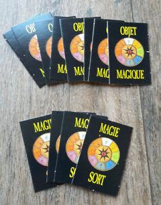 Warhammer * Le jeu des batailles fantastiques * 12 cartes d' Objets Magiques *