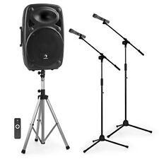 "auna Mobile PA-Anlage 15"" Box Lautsprecher + Stativ 2x Funk-Mikrofon + 2x Stativ"