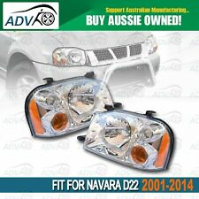 Pair Head Light lamps for Nissan Navara UTE D22 2001-2014 Replacement Left+Right