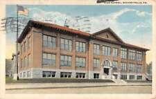 Beaver Falls Pennsylvania High School Street View Antique Postcard K83590