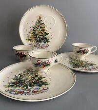 MINT Vintage SALEM CHRISTMAS EVE Buffet Snack Set Cups & Plates