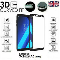 For Samsung Galaxy A6 (2018) 3D Curved Tempered Glass LCD Screen Protector Black