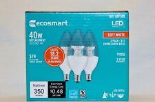 EcoSmart 40W Dimmable LED light bulb B11 Candelabra Base soft white 2-3pks