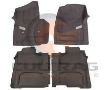 2015-2018 Sierra Crew Cab Front & Rear All Weather Floor Liners Cocoa