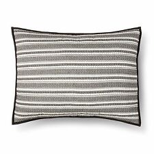 Threshold Grey Woven Ikat Quilted Pillow Sham New