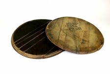 More details for 1 x whisky cask end. whiskey barrel lids, oak barrel tops, free delivery