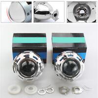 2X 3'' HID Bi-Xenon Projector Lens & Shrouds Car Headlight Retrofit RHD H1 H4 H7