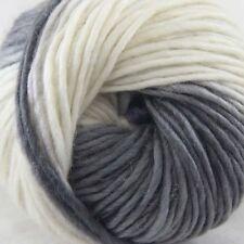 SALE 1ballx50g NEW Chunky Colorful Hand Knitting Wool Yarn Light Grey White Blue