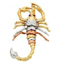 14K tricolor gold Scorpion pendant EJCM33202