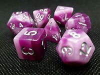 dice4friends RPG Würfel Set 7 Poly DND Rollenspiel Domino Aubergine lila