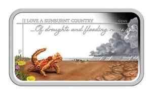 AUSTRALIA SUNBURNT COUNTRY DROUGHTS & FLOODING RAINS 2015 1OZ SILVER PROOF COIN