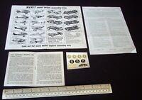 Merit (Randall) Vanwall Racing Car Kit Instructions + Catalogue + Decals c1959
