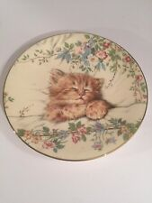 """Royal Worcester 'Cat Nap' Plate from """"Kitten Classics Collection"""" by Hamilton"""