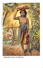 Inlandsche Vrouw Te Batavia Partial Nude Tinted Real Photo Rppc Postcard