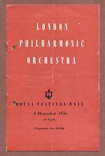 Festival Hall London, 1956  L.P.O.,  Daniel Wayenberg, Massimo Freccia    JX275