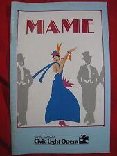 Santa Barbara Civic Light Opera Playbill Program MAME 1990 Carol Swarbrick