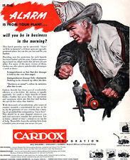 Fire Fighter Chief CARDOX Fire Extinguishing Equipment 1949 Magazine Print Ad