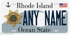 Rhode Island Sheriff Any Name Number Novelty Car License Plate