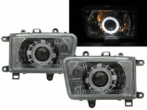 Hilux Surf MK2 92-95 Guide LED Halo Projector Headlight Chrome for TOYOTA RHD