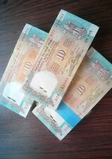 India 10 Rs C RANGARAJAN Shalimar garden 100 Notes UNC serial note 1 bundle