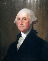 ZWPT1103 handmade painted George-Washington portrait oil painting art on Canvas