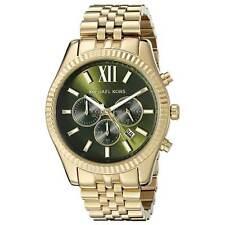 Michael Kors MK8446 Men's Lexington Chrono Green Dial Gold-tone Watch