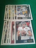 2020 Score Green Bay Packers Team Set, Jordan Love RC, Rodgers 18 cards 4 RC