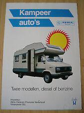 Adria Motorhome brochure c1988 Dutch text