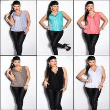 Maglie e camicie da donna camicetta con scollo a v, taglia 36