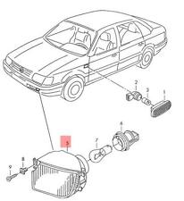 Genuine VW Turn Signal Indicator Left NOS VW Passat 4Motion 3A0953049B