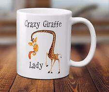 Crazy Giraffa LADY Tazza Funny Zoo Animale Amante attenzione Regalo Caffè Tè 320ml