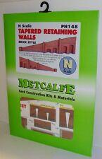 Metcalfe PN148 Tapered Retaining Walls, Brick Style (N) Railway Model