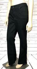 Chicos Women's Platinum Jeans Size 1 Short Boot Cut Mid Rise Black New