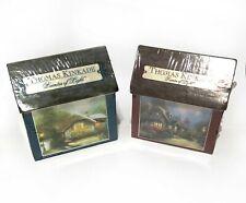 New ListingPair Sealed Thomas Kinkade Painter of Light Mini Puzzles 100 pc Jigsaw Cottages