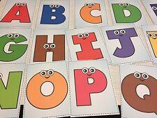 26 cards - Full color Alphabet People cards- Pre school Kindergarten Letters
