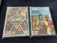 The Sims 3 Supernatural PC Sealed Discover University Expansion