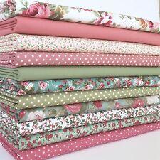 Bundle 11 fat quarters grace floral favourties pink green  100% cotton