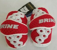 Brine Size Medium Red / White Lacrosse Triumph Ii Arm Guard Elbow Pads
