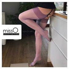 S101 Shiny Stockings Calze Reggicalze LILLA Velate Lucide Satinate 15 DEN  L/XL