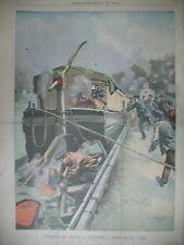 BATELIER PENICHE PONT DE SEVRES DELEGUES BRETONS ELYSéE LE PETIT PARISIEN 1903