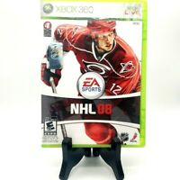 EA Sports NHL 08 Microsoft Xbox 360 Game Case Manual Very Good Free Shipping
