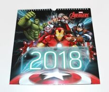 Avengers Marvel Heroes 2018 Calendar Boys Bedroom Wall Calender Christmas Gift