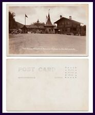 NEW YORK WHITEFACE MEMORIAL HIGHWAY TOLL HOUSE REAL PHOTO AZO BACK CIRCA 1935