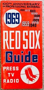 Carl Yastrzemski Jim Lonborg 1969 Boston Red Sox MLB Media Guide