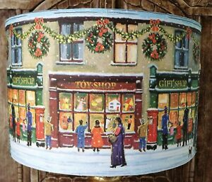 Christmas lampshade,Toy Shop street  multi Xmas festive Decoration