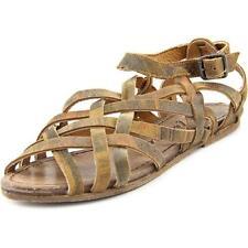 Sandalias y chanclas de mujer planos de piel color principal marrón