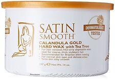 Satin Smooth Calendula Gold Hard Wax With Tea Tree Oil 14oz - SSW14CT