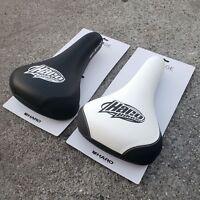 HARO MIRRA RAILED SEAT BLACK OR WHITE BMX BIKE BICYCLE SEATS SE GT REDLINE