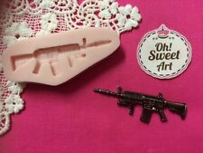 Machine Gun Silicone Mold Food Cake  wax decoration soap cupcake topper FDA