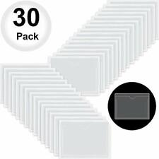 30 Pack Self Adhesive Index Card Pockets With Top Open For Loading Ideal Holder